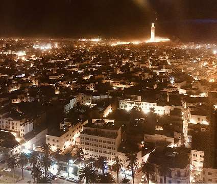 Casablanca by night, the location for North African Dreamin