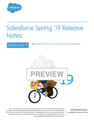 Spring19 release notes