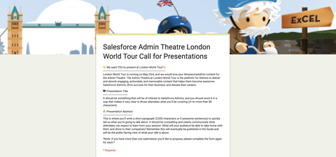 Want to speak at the London WT?