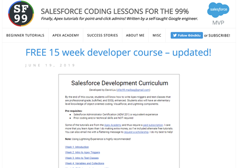 Free Developer Course