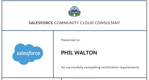 Certified Salesforce Community Cloud Consultant Phil Walton