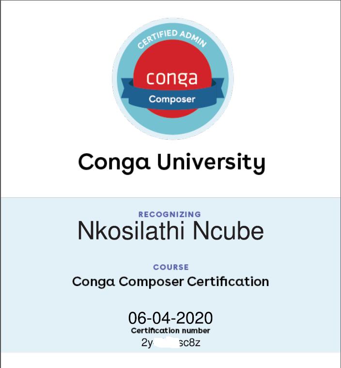 Team Member Gains Conga Composer Certification