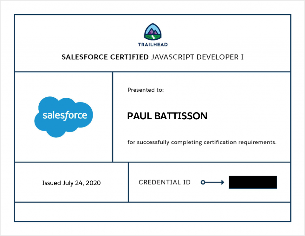 Paul Battisson Salesforce JavaScript Developer I Certified