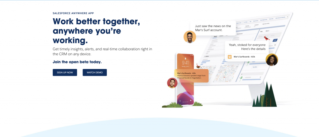 Salesforce Anywhere Beta Signup