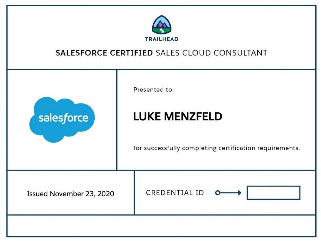 Salesforce Sales Cloud Consultant Cert